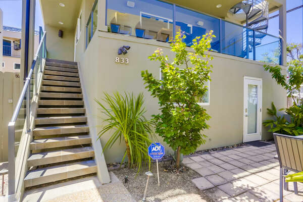 Exterior - Door for Studio Downstairs, Door for Main Home Upstairs