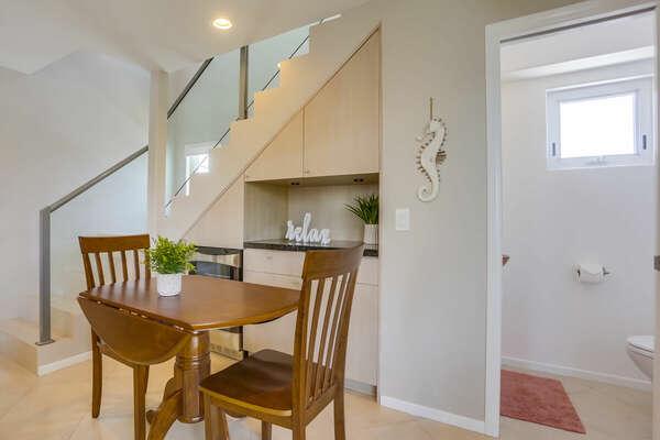Bistro Table & Half Bath - 2nd Floor