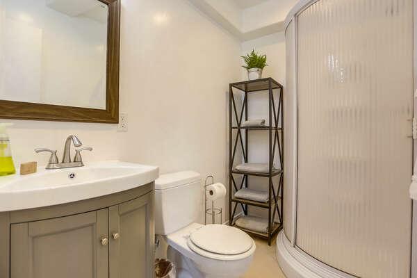 Studio Bathroom w/ Walk-In Shower - 1st Floor