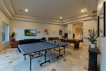 Choose between ping pong, pool and foosball tables for friendly competition in the game room.