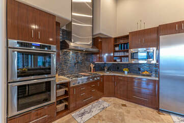 The chef will love working in our modern and completely stocked kitchen.