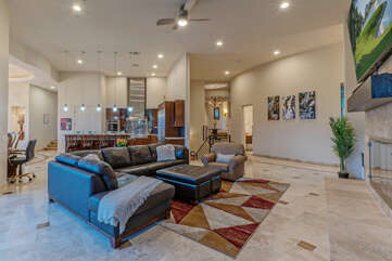Home is spacious and elegant throughout.