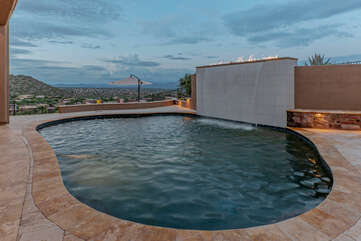 Enjoy a splash in the private pool with optional heat and spectacular landscapes!