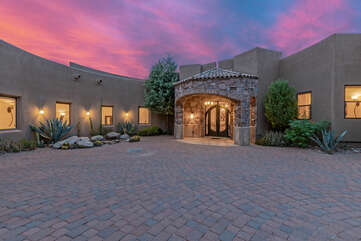 Front entrance welcomes you to our newly listed Fountain Hills/Scottsdale estate with impressive resort amenities and sensational views.