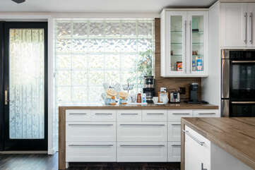 Coffee Bar with Drip and Keurig Coffee Makers
