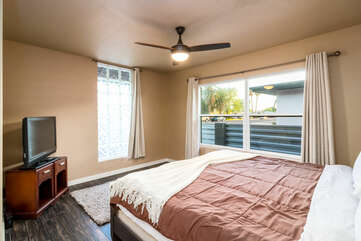 Master Bedroom 2 with a King Bed and Smart TV