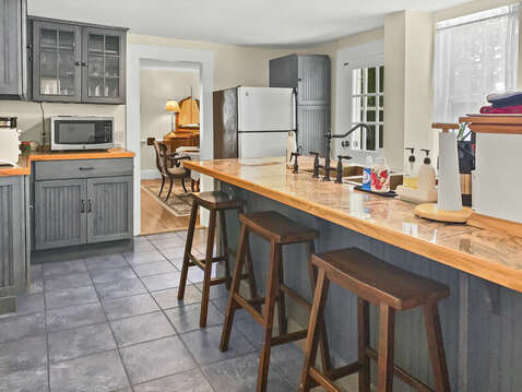 Modern kitchen that retains the Captain's house feel - 98 West Road Orleans Cape Cod New England Vacation Rentals