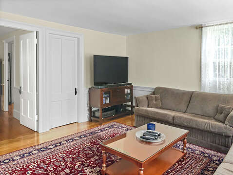 Flat screen TV for family movie night - 98 West Road Orleans Cape Cod New England Vacation Rentals