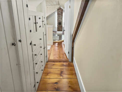 Built in closets along hall way to stair landing - 98 West Road Orleans Cape Cod New England Vacation Rentals