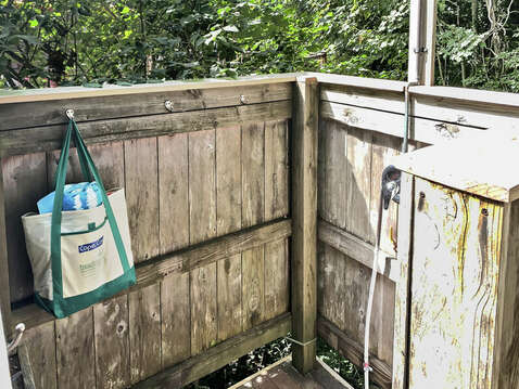 Outdoor shower - A Cape Cod tradition - 98 West Road Orleans Cape Cod New England Vacation Rentals