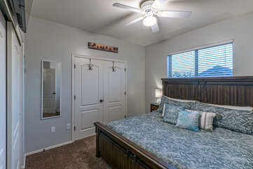 Bedroom 2 is on the second floor  and has ample closet space for your personal effects.