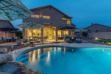 THE NIGHT OWL is our newly listed 5 BR, 3 BA, two story home with an exciting backyard oasis!