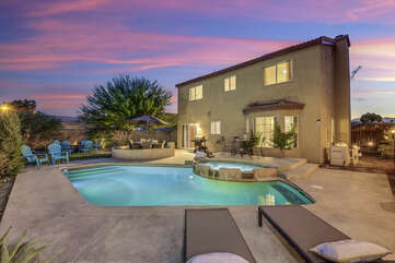 Buena Vista is a stunning four-bedroom, private pool and spa, offering 1,736 square feet of luxury living.