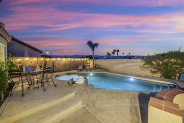 Swim laps before the sun rises and see the beauty Coachella Valley has to offer.