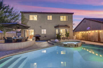 The kids will love this backyard and pool, they will never want to leave.