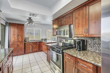 This large family kitchen offers everything one would need to create their perfect meal,