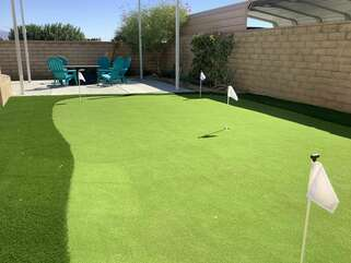 Practice your game on the putting green, then show off your skills at one of the many local golf courses nearby.