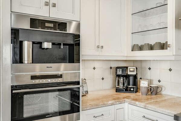 Main Kitchen w/ Built-In Miele Coffee Machine - 2nd Floor