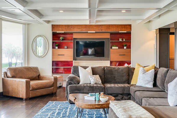 Living Room & TV Room w/ Bay Views - 2nd Floor