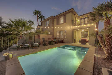 Como Lake Villa is a stunning two-bedroom, private pool, and spa, offering 2,157 square feet of luxury living.