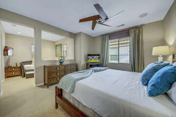 Suite 2 also features a switch-controlled ceiling fan, and walk-in closet.