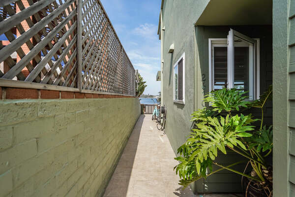 North Side Walkway Leading to Bay (Shared w/ Lower Unit)