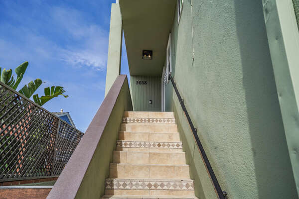 Stairs Up to the Unit