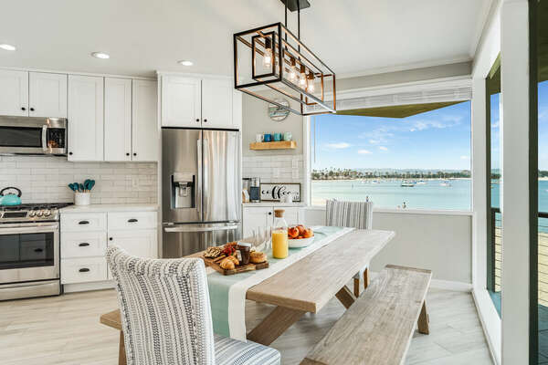 Dining Table w/ Bay Views