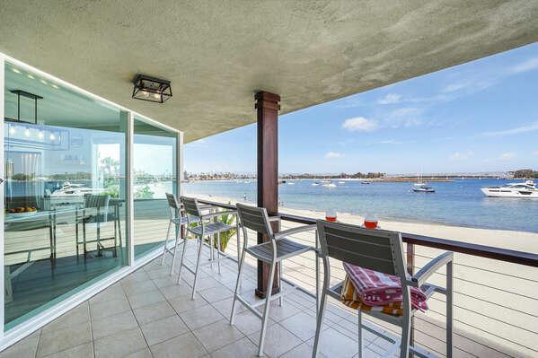 Balcony with Bay Views