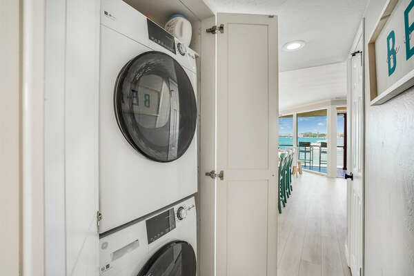 Stacked Washer/Dryer in Hallway