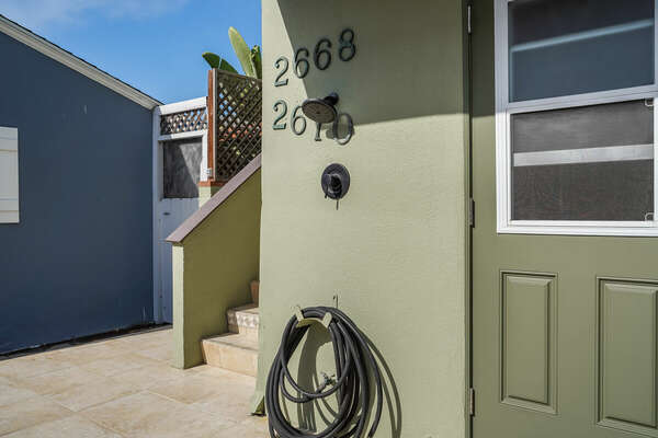 Outdoor Shower (Shared w/ Lower Unit)