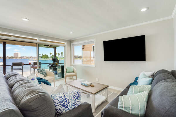 Plush Seating in Living Room w/ Bay Views