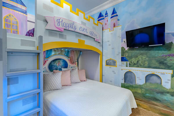 A cute themed kiddie room for your kids to sleep in.