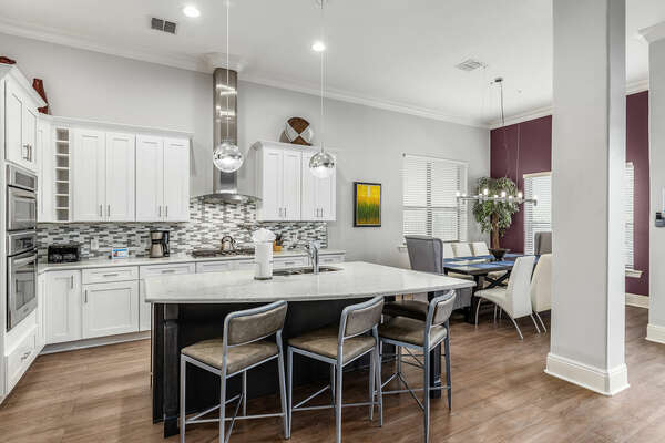 Cook a meal in the beautiful fully equipped kitchen