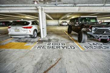 The reserved parking space for 2009