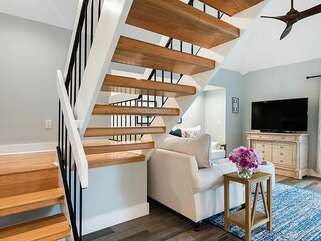 Head upstairs to the master en-suite
