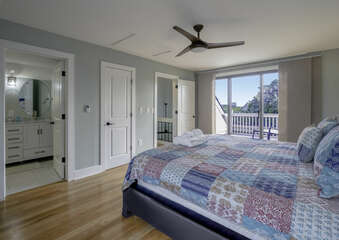 A very spacious master guest suite.