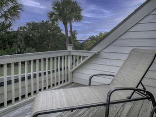 You face out to the ocean from your private second floor deck.